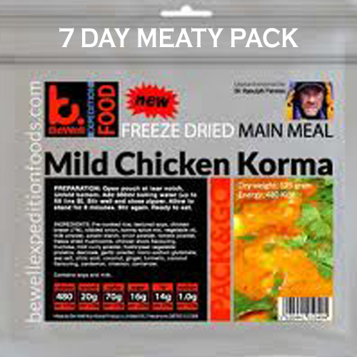 BeWell Pack N Go Expedition Food 7 Day Pack Meaty