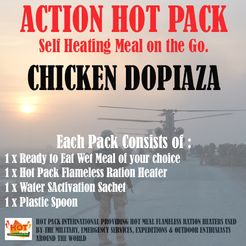 ACTION HOT PACK SELF HEATING Chicken Dopiaza