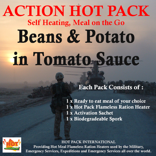 Action Pack Self Heating Meal BEANS & POTATO IN TOMATO SAUCE 300g