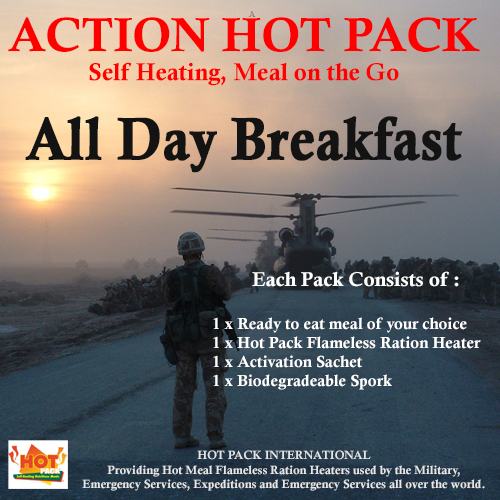 Action Hot Pack Self Heating Meal ALL DAY BREAKFAST 300g