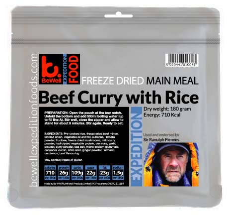 180g Beef Curry & Rice