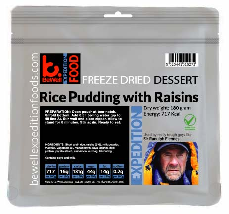 CLEARANCE 180g Rice Pudding with Raisins High Energy