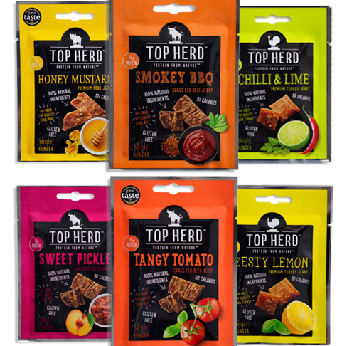 High Protein Jerky Sample Pack of 6 Mixed