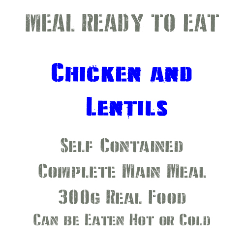 300g Chicken & Lentils MRE Wet Meal