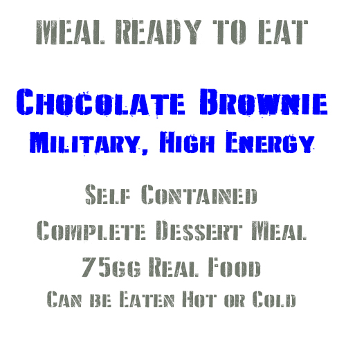 Chocolate Brownie British Military, High Energy, Long Life