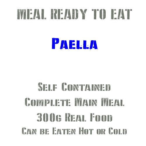 300g Paella MRE wet Meal