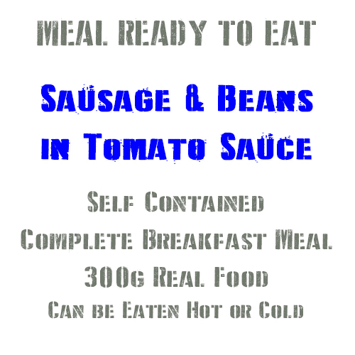 300g Pork Sausage & Beans in Tomato Sauce MRE Wet Meal
