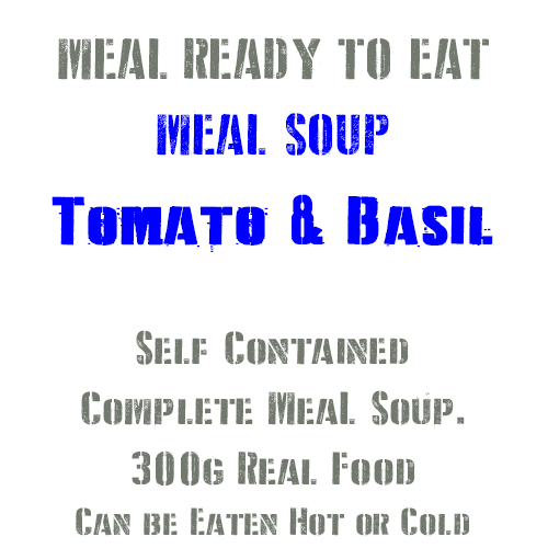 300g Tomato & Basil Soup MRE Wet Meal