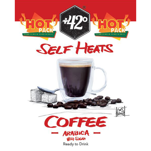 Self Heating Coffee with Sugar Drink 24 Pack