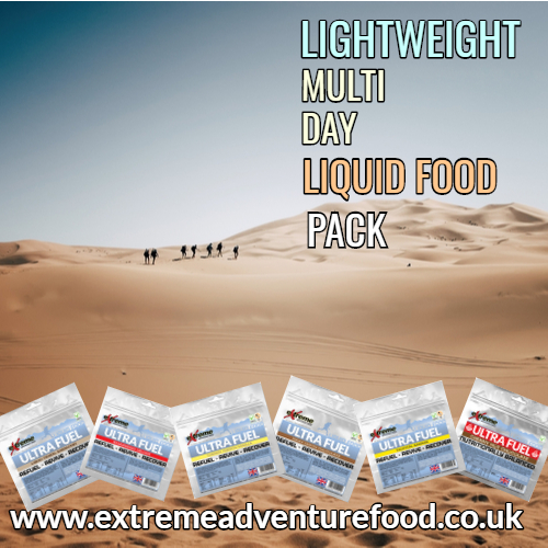 Extreme Lightweight Multi Day Liquid Food Pack