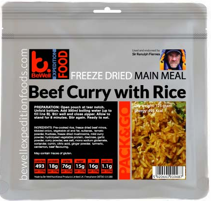 125g Beef Curry with Rice