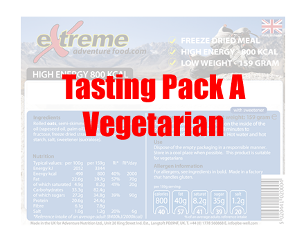 Extreme Adventure Food Tasting Pack A Vegetarian