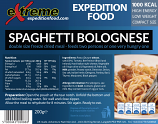 Extreme Expedition Food 1000 Kcal Spaghetti Bolognese