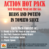 ACTION HOT PACK SELF HEATING  Beans & Potato, Tomato Sauce