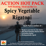 ACTION PACK SELF HEATING Spicy Vegetable Rigatoni 300g