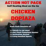 Action Hot Pack Self Heating Meal CHICKEN DOPIAZA 300g