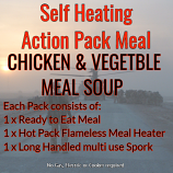Action Hot Pack Self Heating CHICKEN & VEGETABLE MEAL SOUP  300g