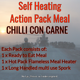 Action Hot Pack Self Heating CHILLI CON CARNE 300g