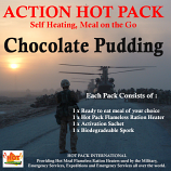 Action Hot Pack Self Heating CHOCOLATE PUDDING 200g