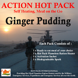 Action Hot Pack Self Heating GINGER PUDDING 200g