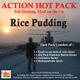 Action Hot Pack Self Heating RICE PUDDING 140g
