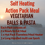Action Hot Pack Self Heating Meal VEGETARIAN BALLS & PASTA
