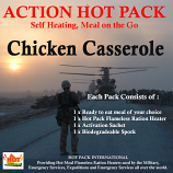 Action Hot Pack Self Heating Meal CHICKEN CASSEROLE 300g