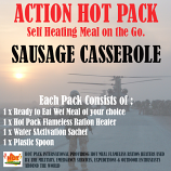 ACTION HOT PACK SELF HEATING MEAL Sausage Casserole