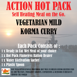 ACTION HOT PACK SELF HEATING  Vegetarian Mild Korma Curry