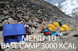 Base Camp EXTRA Menu 10 - 3000 Kcal