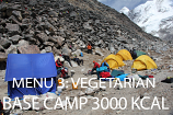 Base Camp EXTRA Menu 3 Vegetarian -  3000 Kcal