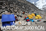 Base Camp EXTRA Menu 8 - 3000 Kcal