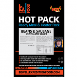 SELF HEATING 300g  Sausage, Beans & Tomato Sauce  MRE meal