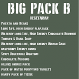 The BIG ration Pack B VEGETARIAN