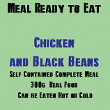 300g Chicken and Black Beans MRE Wet Meal