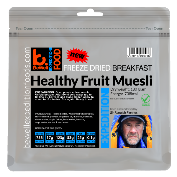 Healthy Fruit Muesli 180g - 799 Kcal
