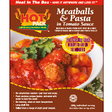 Hot Pack SELF HEATING Meal in a Box  Meatballs and Pasta  Qty 1