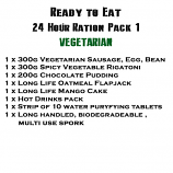 MRE Ready to eat 24 hour ration Pack 1 Vegetarian - 2019