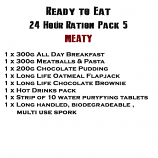 MRE Ready to eat 24 hour ration Pack 5 Meaty - 2019