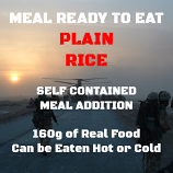 160g Long Grain Rice MRE Wet Meal.