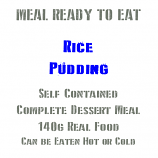 140g Rice Pudding, MRE Wet Meal