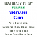 300g Vegetable Curry MRE Wet Meal