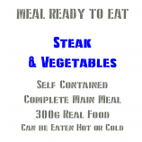 300g Steak, Vegetables & Dumplings MRE Wet Meal