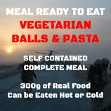300g Vegetable Balls & Pasta MRE Wet Meal