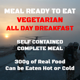300g Vegetarian All Day Breakfast MRE Wet Meal