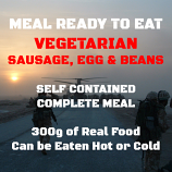 300g Vegetable Sausage, Egg & Beans MRE Wet Meal