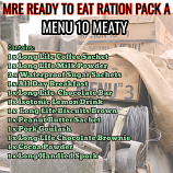 Type A Ration Pack Menu 10 Meaty