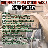 Type A Ration Pack Menu 11 Meaty