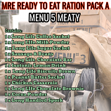 Type A Ration Pack Menu 5 Meaty