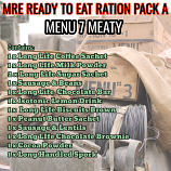 Type A Ration Pack Menu 7 Meaty
